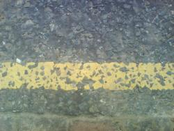 broken yellow line