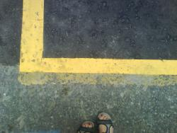 right angle yellow line