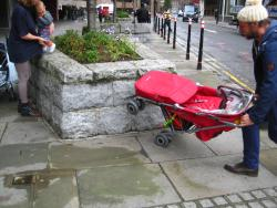 Skateboarding?? Try pushchair tricks!
