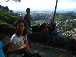 Shooting documentary at favela morro dos Prazeres